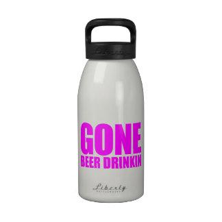 CERVEZA IDA QUE BEBE Meme - rosa fuerte Botellas De Agua Reutilizables
