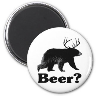 ¿Cerveza? Imán Redondo 5 Cm