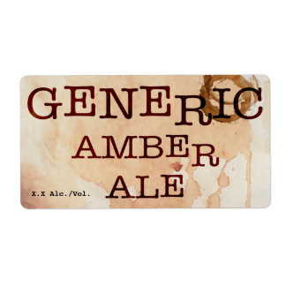Cerveza inglesa ambarina genérica etiqueta de envío