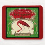 Cerveza inglesa ambarina roja del flamenco alfombrilla de raton