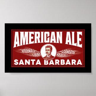 Cerveza inglesa americana póster