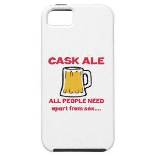 Cerveza inglesa del barril que toda la gente iPhone 5 fundas
