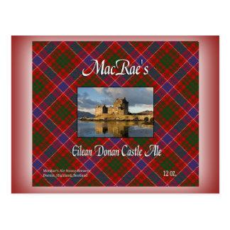 Cerveza inglesa del castillo de Eilean Donan de Ma Tarjetas Postales