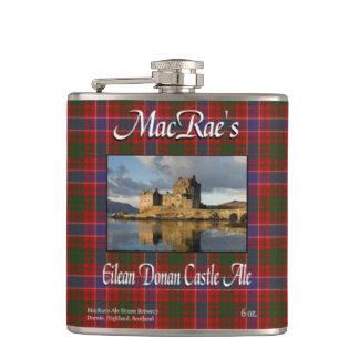 Cerveza inglesa del castillo de Eilean Donan de Petaca
