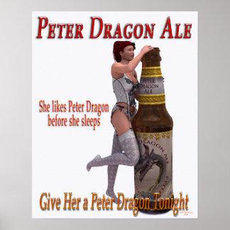 Cerveza inglesa del dragón de Peter antes de que e Poster