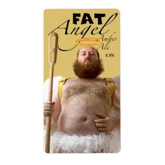 Cerveza inglesa gorda del ámbar del ángel etiquetas de envío