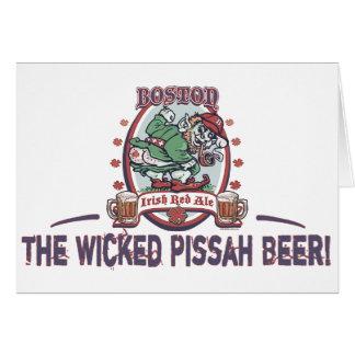 Cerveza inglesa roja irlandesa de Boston Tarjeta De Felicitación