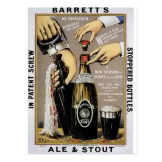 Cerveza inglesa y cerveza de malta de Barretts Postal