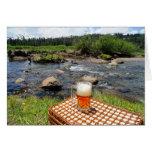 Cerveza inglesa y naturaleza tarjetas