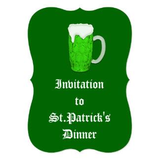 Cerveza irlandesa #1 invitaciones personales