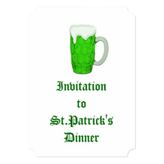 Cerveza irlandesa #1 invitacion personal