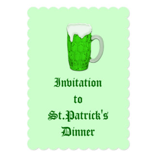 Cerveza irlandesa #1 invitacion personalizada