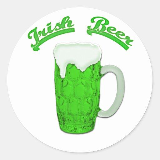 Cerveza irlandesa #1 pegatina redonda