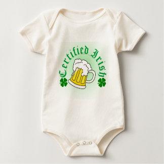 Cerveza irlandesa certificada 2 mamelucos de bebé