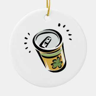 Cerveza irlandesa ornamentos de navidad