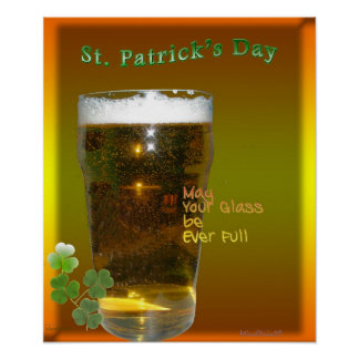 Cerveza irlandesa poster