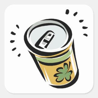 Cerveza irlandesa pegatina cuadradas
