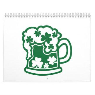 Cerveza irlandesa verde calendario
