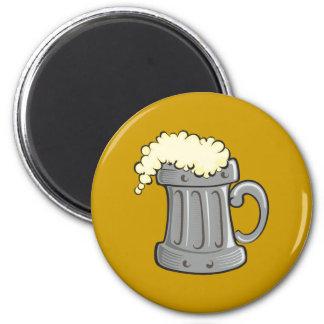 Cerveza jarra jarra de cerveza tankard beer ale imán redondo 5 cm