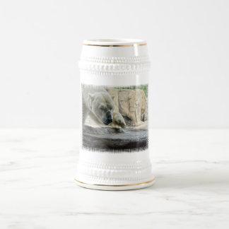 Cerveza juguetona Stein del oso polar Jarra De Cerveza