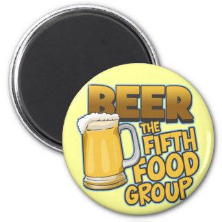 Cerveza: Las quintas camisetas y regalos del grupo Imán Redondo 5 Cm