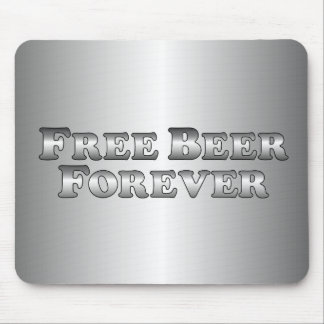 Cerveza libre para siempre - básica alfombrillas de ratón