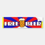 Cerveza libre pegatina de parachoque