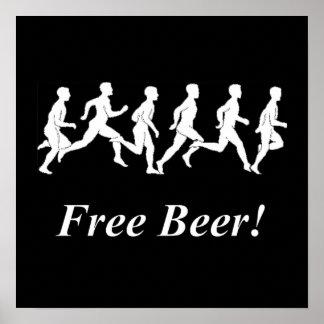 ¡Cerveza libre! Posters