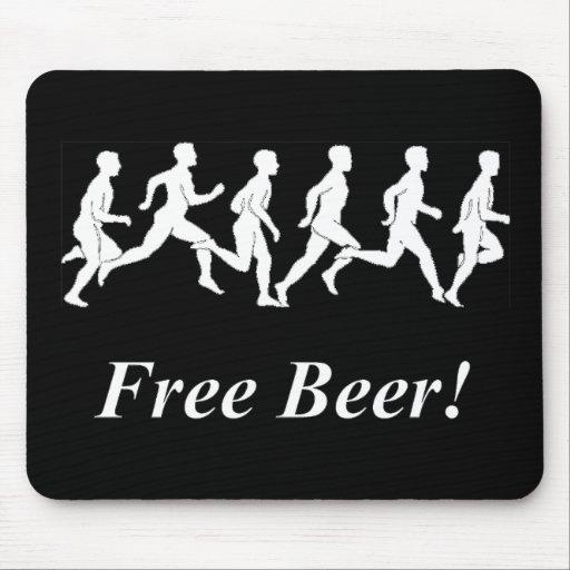 ¡Cerveza libre! Tapete De Ratones