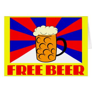 Cerveza libre tarjeta de felicitación