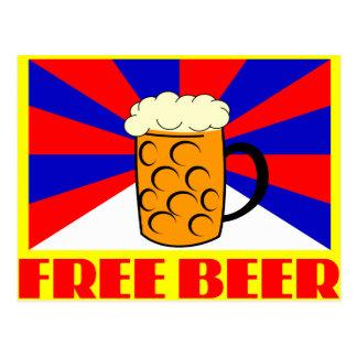 Cerveza libre tarjeta postal