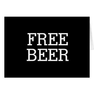 Cerveza libre usted será mi mejor hombre del tarjeta de felicitación