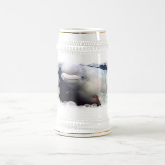 Cerveza linda Stein de la ballena de la beluga Jarra De Cerveza