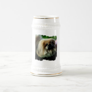 Cerveza linda Stein de Pekingese Tazas De Café