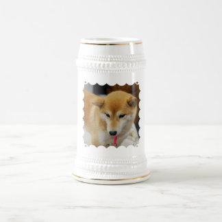 Cerveza linda Stein de Shiba Inu Taza De Café