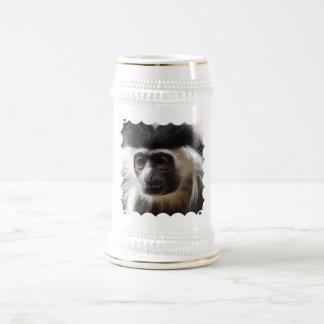 Cerveza linda Stein del mono de Colobus Jarra De Cerveza