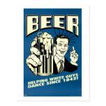 Cerveza - los individuos blancos de ayuda bailan d tarjetas postales