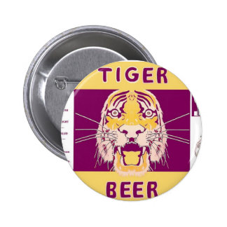 Cerveza Manhattan del tigre que elabora cerveza el Pin Redondo De 2 Pulgadas