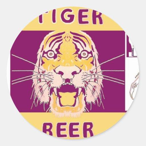 Cerveza Manhattan del tigre que elabora cerveza la Etiquetas Redondas
