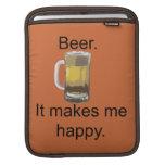 Cerveza. Me hace feliz Funda Para iPads
