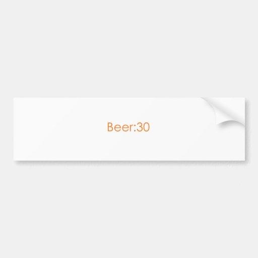 Cerveza: naranja 30 etiqueta de parachoque