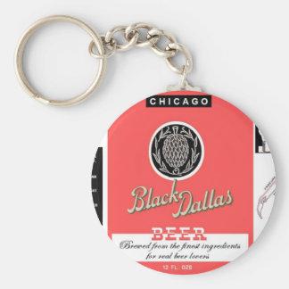 Cerveza negra Manhattan de Dallas que elabora cerv Llavero Redondo Tipo Pin