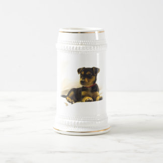 Cerveza negra Stein de la chihuahua Taza De Café