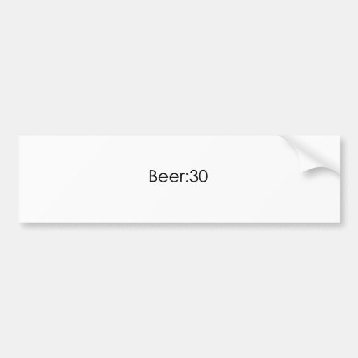 Cerveza: Negro 30 Pegatina De Parachoque