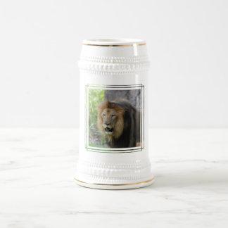 Cerveza orgullosa Stein del león Taza De Café