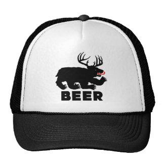 Cerveza -- Oso + Ciervos Gorros Bordados