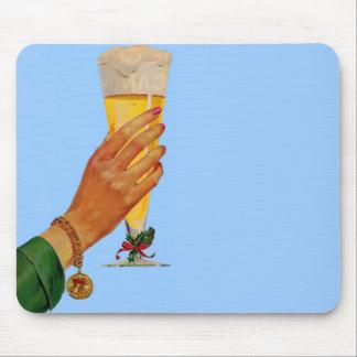 cerveza para el navidad tapetes de ratones