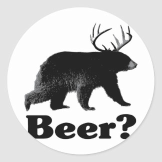 ¿Cerveza? Pegatina Redonda