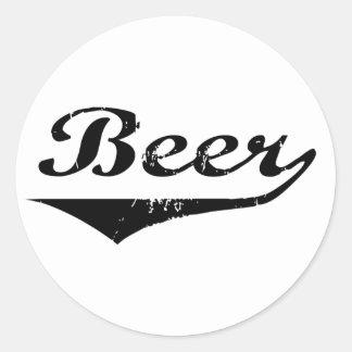 Cerveza Pegatinas Redondas