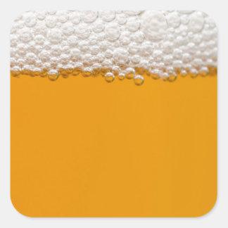 Cerveza Pegatina Cuadrada